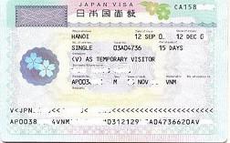 Thủ Tục Xin Visa Du Lịch Nhật Bản