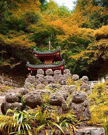 Hơn nghìn tượng đá mang sắc thái nhân sinh ở đền Nhật