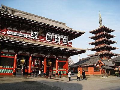 Chùa Asakusa Kannon - Ngôi chùa đẹp và cổ nhất Nhật Bản