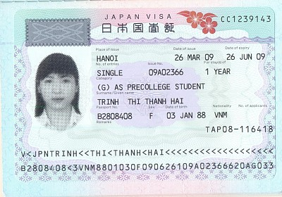 Thông Tin Visa Du Học Nhật Bản