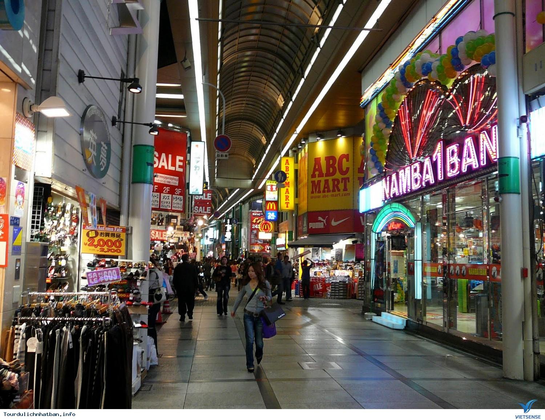 Shinsaibashi khu phố thương mại sầm uất của những thương hiệu,shinsaibashi khu pho thuong mai sam uat cua nhung thuong hieu